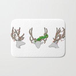 Christmas Reindeer Wreath Bath Mat
