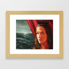The Black Crown Framed Art Print