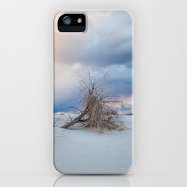 Adrift - Lone Tree In White Sands New Mexico iPhone Case