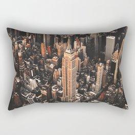 manhattan aerial view Rectangular Pillow