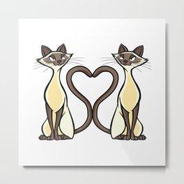 Cat Design Cat Heart For Cat Mom Metal Print