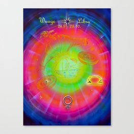 Zodiac sign Libra Canvas Print