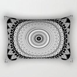Black and White Mandala Two Rectangular Pillow