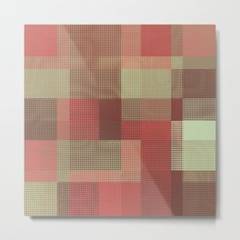 Patchwork for the Pixel Age Metal Print