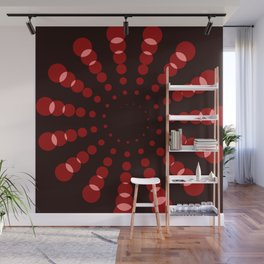 simple red spiral Wall Mural