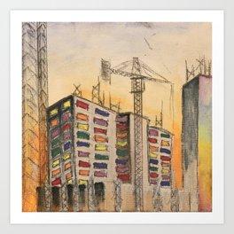 Construction Site #2 Art Print