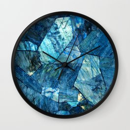 Labradorite Blue Wall Clock