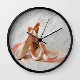 Ballet Shoes Wall Clock