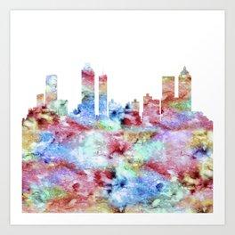 Atlanta Skyline Georgia Art Print