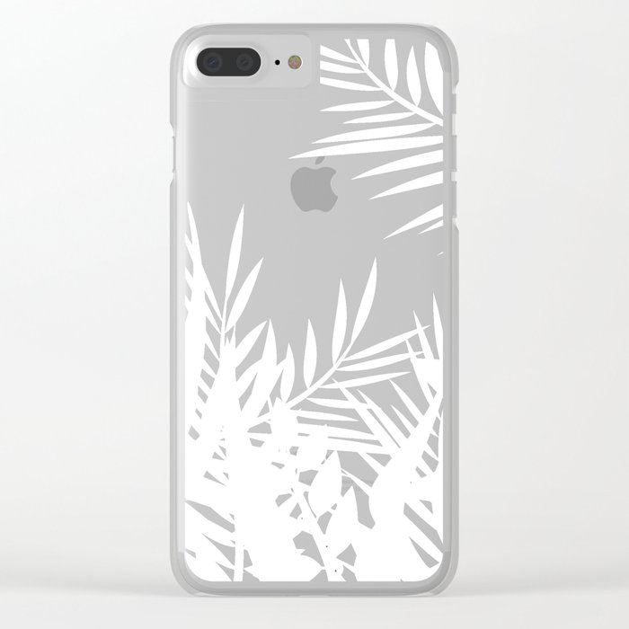 The leaves and berries. Black and white pattern . Clear iPhone Case