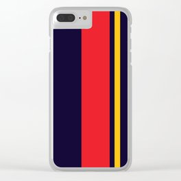 Navy Racer Clear iPhone Case