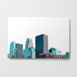 Minneapolis, Minnesota Minimalist Skyline Metal Print