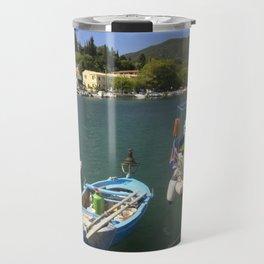 Fishing boats at Ipsos Travel Mug
