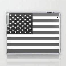 National flag of the USA, B&W version Laptop & iPad Skin