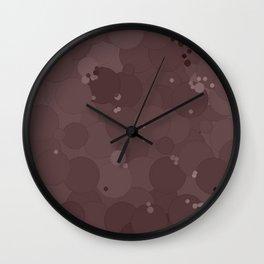 Peppercorn Bubble Dot Color Accent Wall Clock