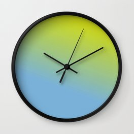 Ombre in Green Blue Wall Clock