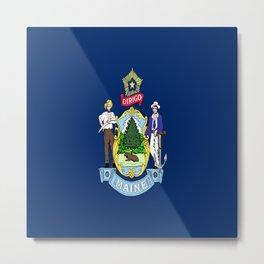 flag maine,america,usa,pine tree,vacationland, mainer,new england,portland,brunswick,lewiston Metal Print