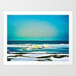 Lake Huron Winter Art Print