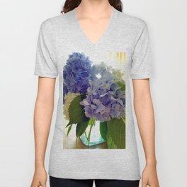 Hydrangea Bouquet Unisex V-Neck