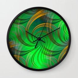 Pathways (green) Wall Clock