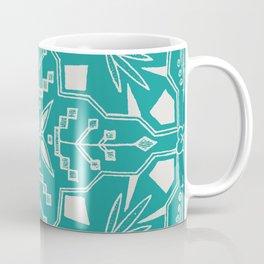Turquoise Batik Coffee Mug