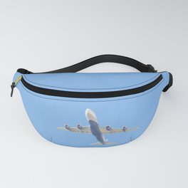 Flying plane enveloped in air Fanny Pack