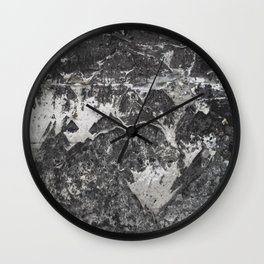 Grunge old vintage wall Wall Clock