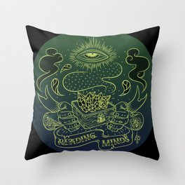 Reading minds / Mielofon Throw Pillow