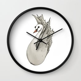 Almost Very Nearly Black Swan  Wall Clock