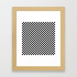 Black and White Check Framed Art Print