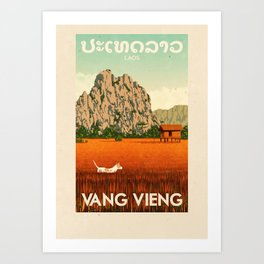 Laos - Vang Vieng Art Print