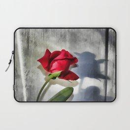 Red Rose Bud Shadow Laptop Sleeve