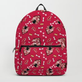Doggy Paradise on Red Backpack