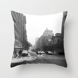 Galoshes in the City Throw Pillow