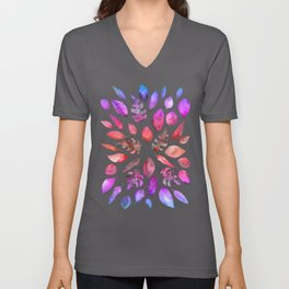 All the Colors of Nature - Gradient on Dark Background Unisex V-Neck
