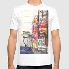 BUDAPEST White Mens Fitted Tee MEDIUM