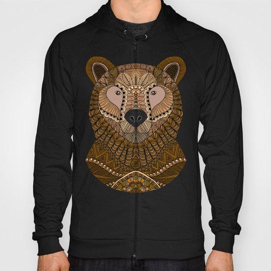 Ornate Brown Bear Hoody