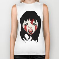 scream Biker Tanks featuring Scream by Karin_vande_kuilen
