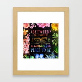 Between the pages - black Framed Art Print