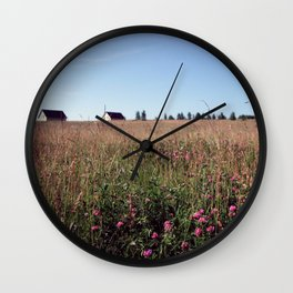 crimsonmeadow Wall Clock
