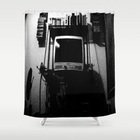 tv Shower Curtains featuring television. by azyxz
