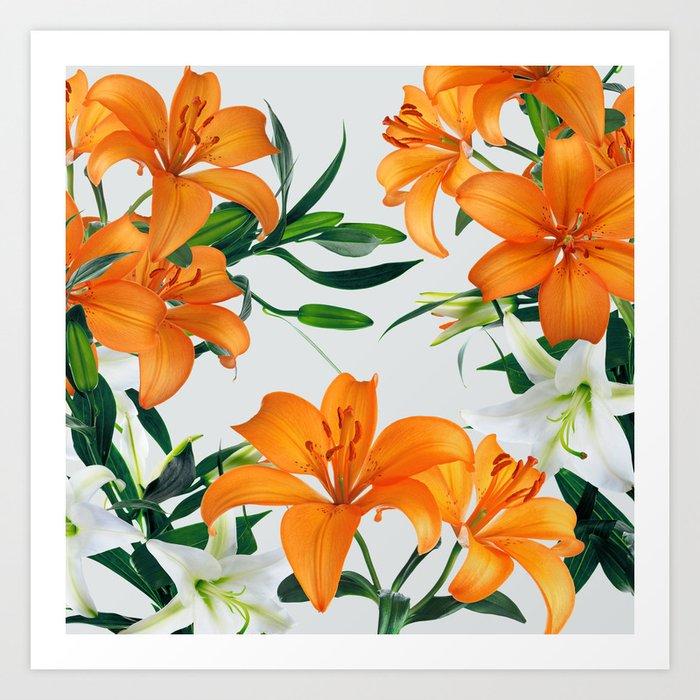 Glorious Lilies Art Print