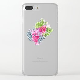 Dual Bouquets - a watercolor floral Clear iPhone Case