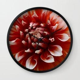 Cognac-Colored Dahlia Wall Clock