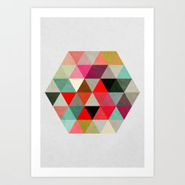 Geo Hex 03. Art Print