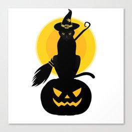 witch cat furniture Design by diegoramonart Canvas Print