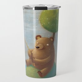 Fisherman Bear Travel Mug