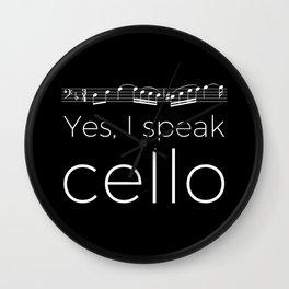 Yes, I speak cello Wall Clock