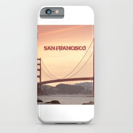 Golden Gate Bridge San Francisco With City Name iPhone Case
