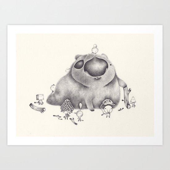 le club wombat Art Print